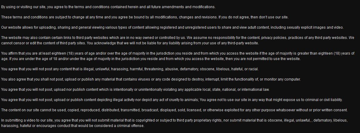 terms - Conditions d'utilisation
